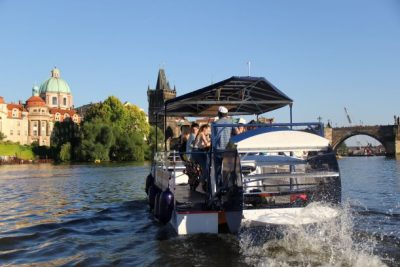 Prague Cycle beer boat